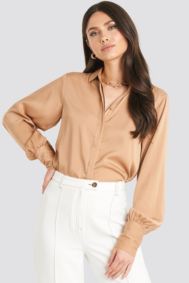 Volume Sleeve Blouse NA-KD Classic