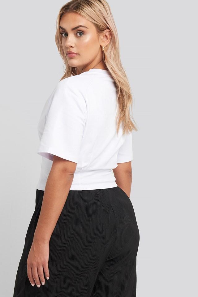 Waist Dart Detail T-shirt White