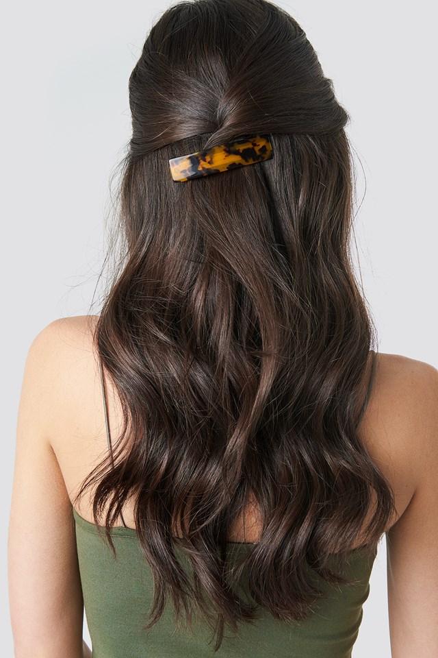 Wide Resin Hair Clip Tortoise