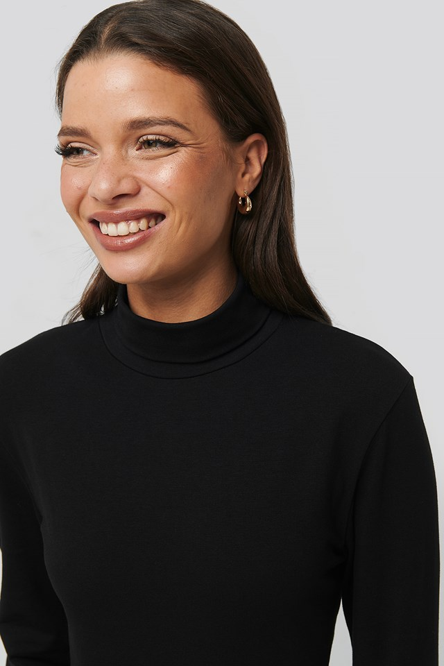 Wide Small Earring Hoops Gold