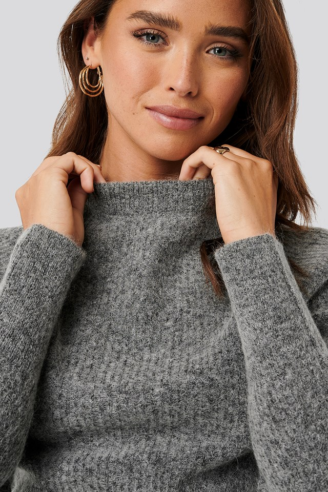 Wool Blend Raglan Sleeve Sweater NA-KD Trend