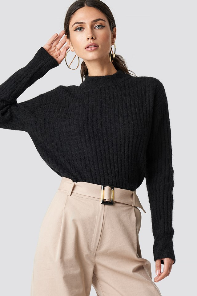Wool Blend Sweater Black