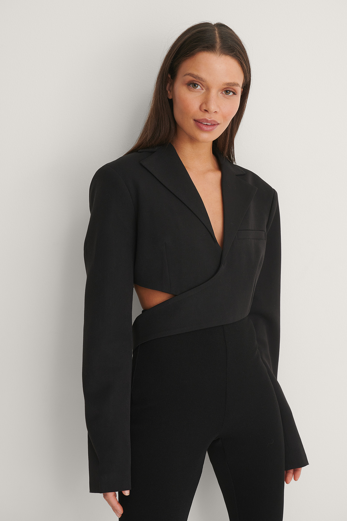 Black Wrap Blazer