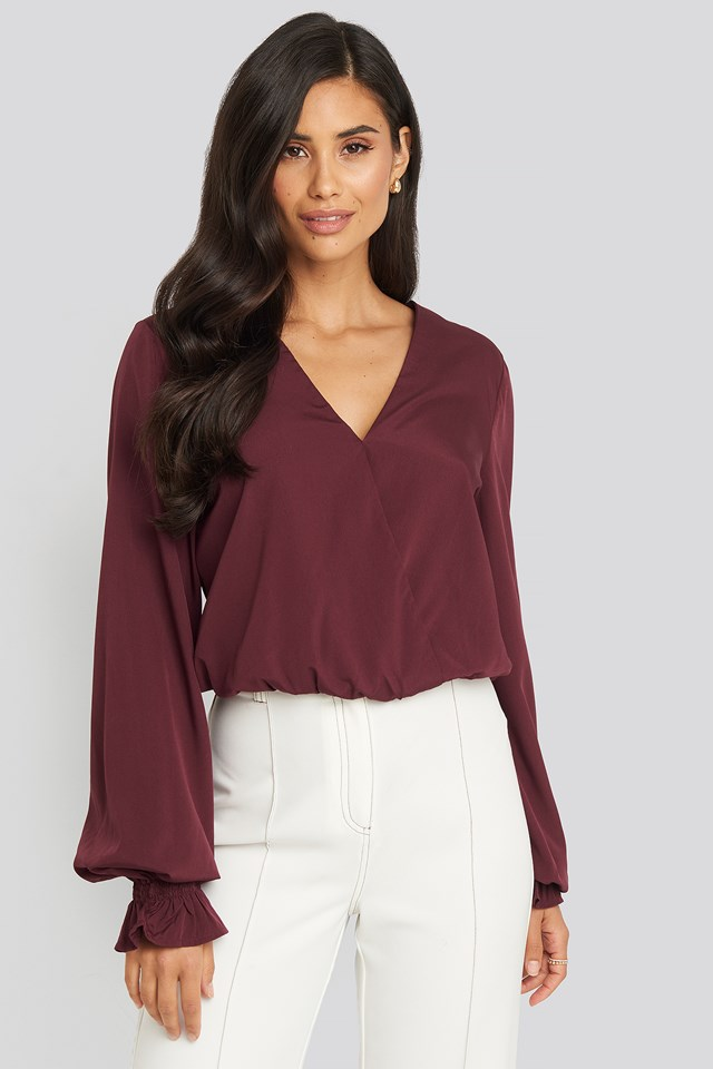 Wrap Over Blouse NA-KD