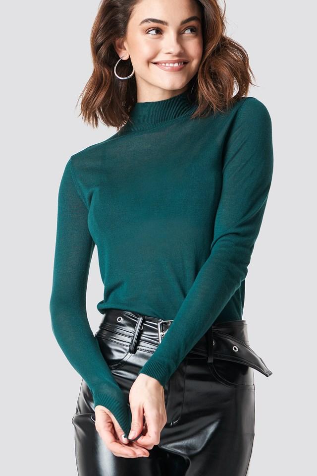 Devon Knitted Pullover Deep Green