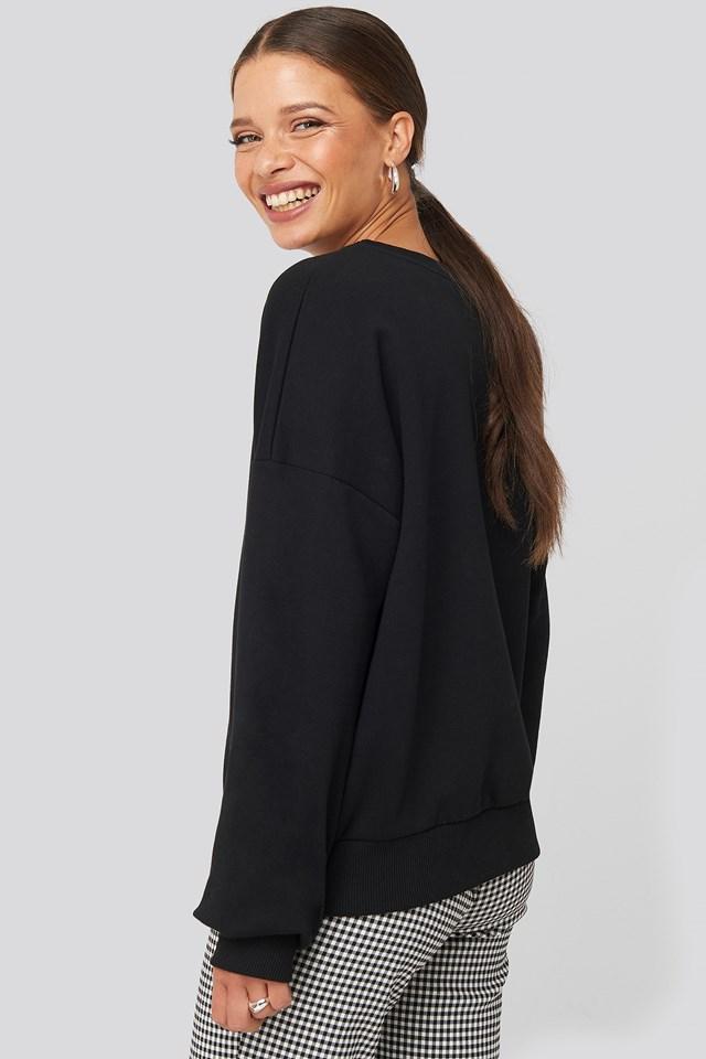 Drop Shoulder Sweater Black