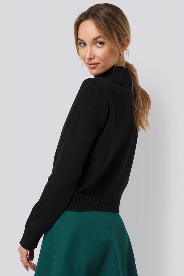 High Neck Sweater Black
