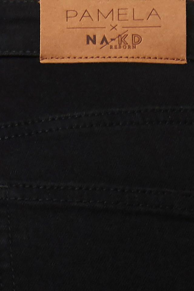 High Waist Skinny Fit Jeans Black
