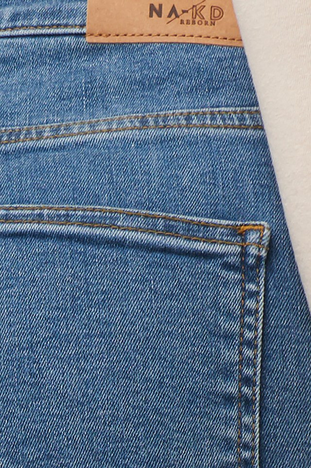 High Waist Skinny Fit Jeans Mid Blue