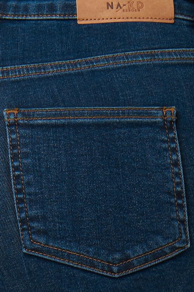 High Waist Skinny Fit Jeans Dark Blue