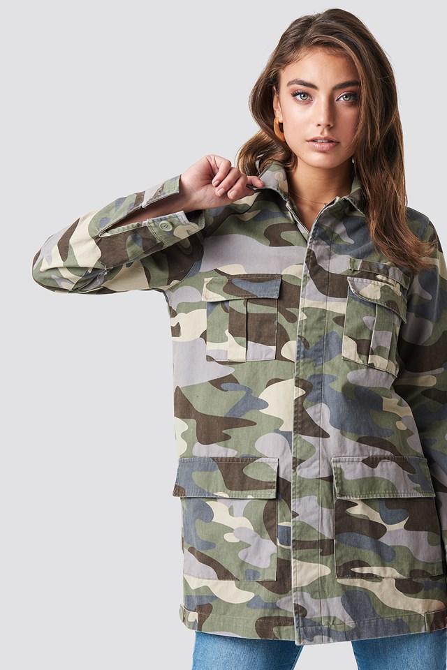 Long Camo Jacket Pamela x NA-KD