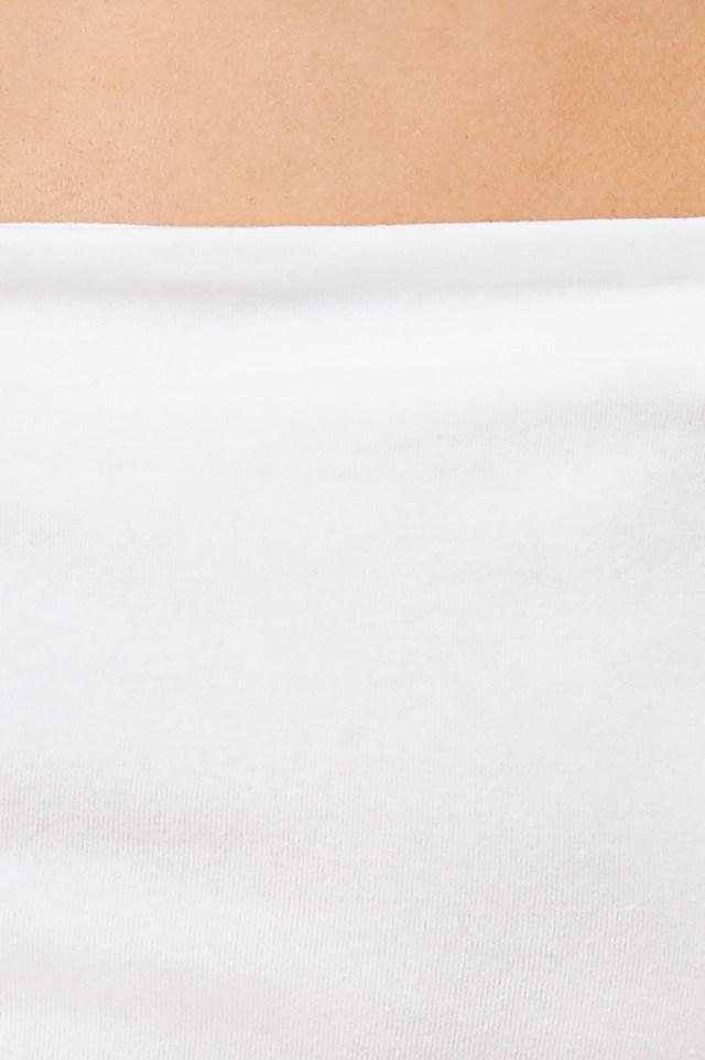 Long Sleeve Bardot Top Off White