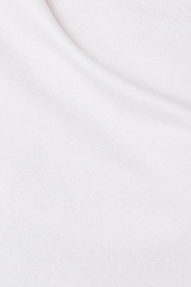 Raw Hem Cropped T-shirt Off White