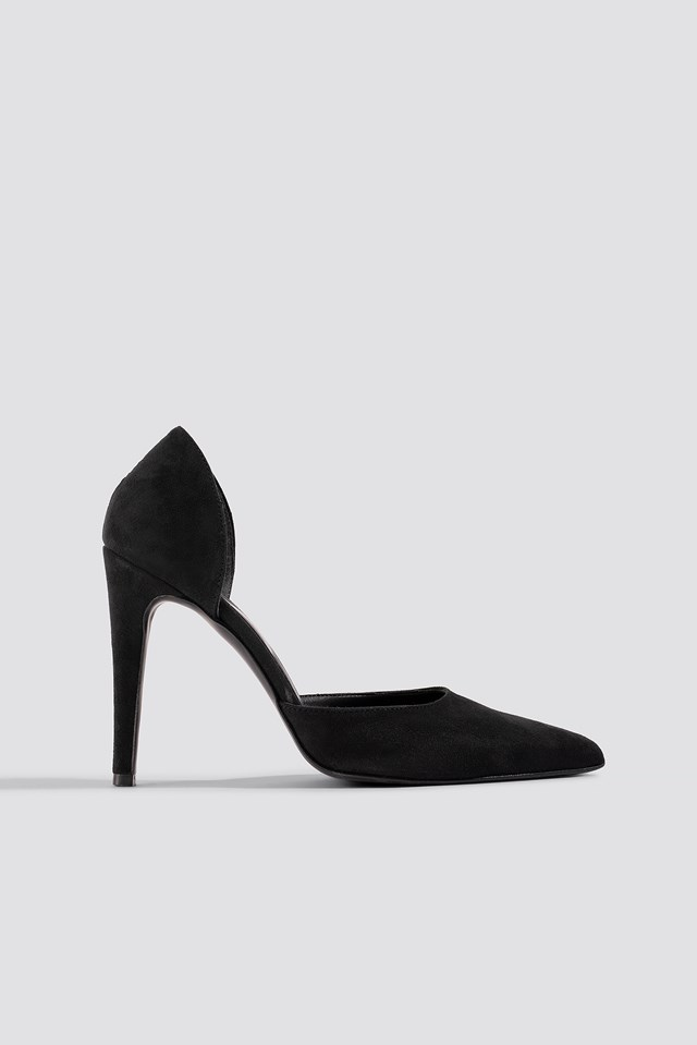 Pointy Faux Suede Pumps Pamela x NA-KD