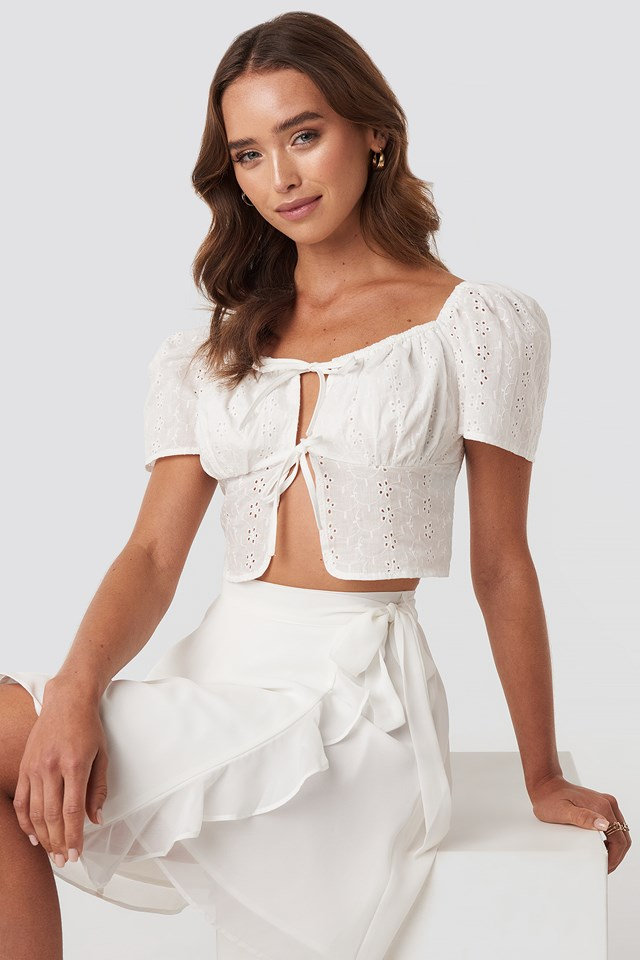 Front Tie Crochet Top Paola Maria x NA-KD