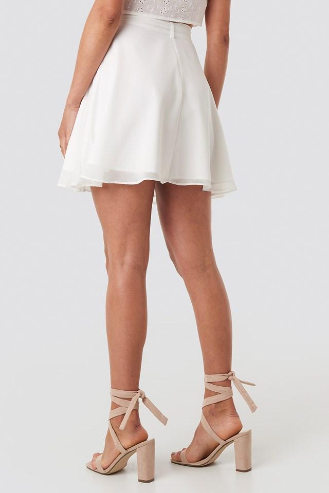 Tied Mini Skirt White