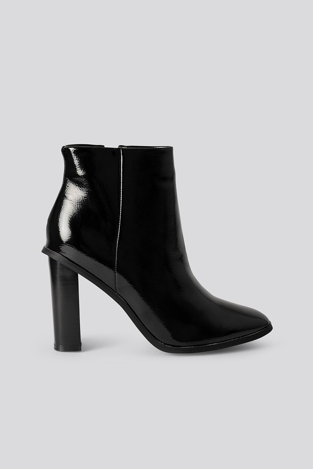 Dylan Ankle Boots Black Patent