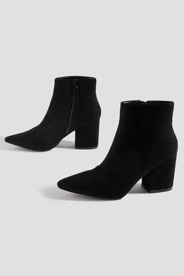 Kola Ankle Boot Black Suede