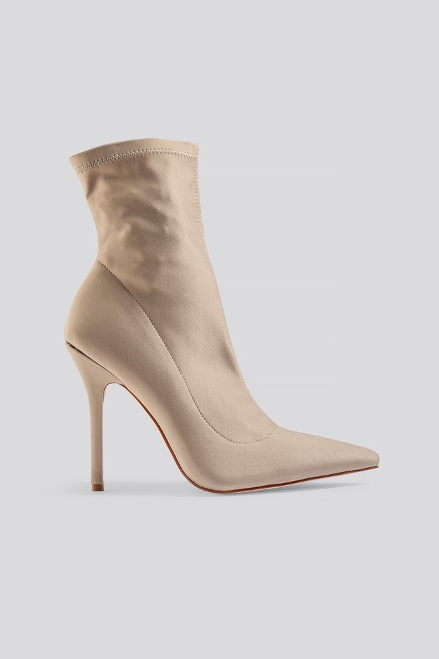 Presca Ankle Boots Nude