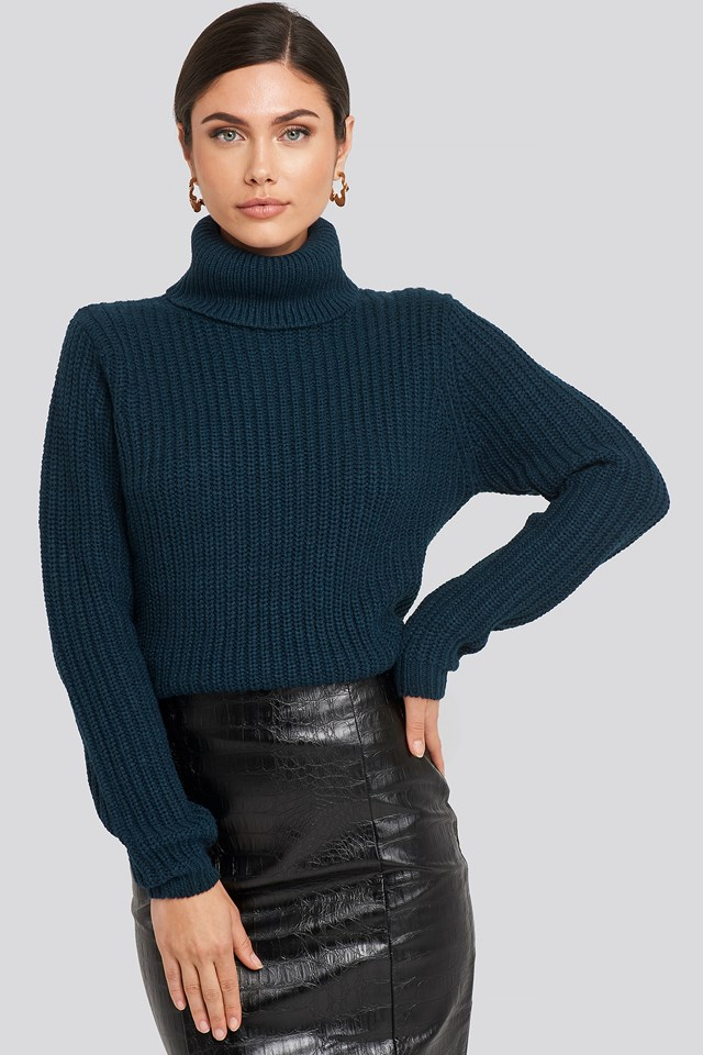 Tinelle Rollneck Knit Navy