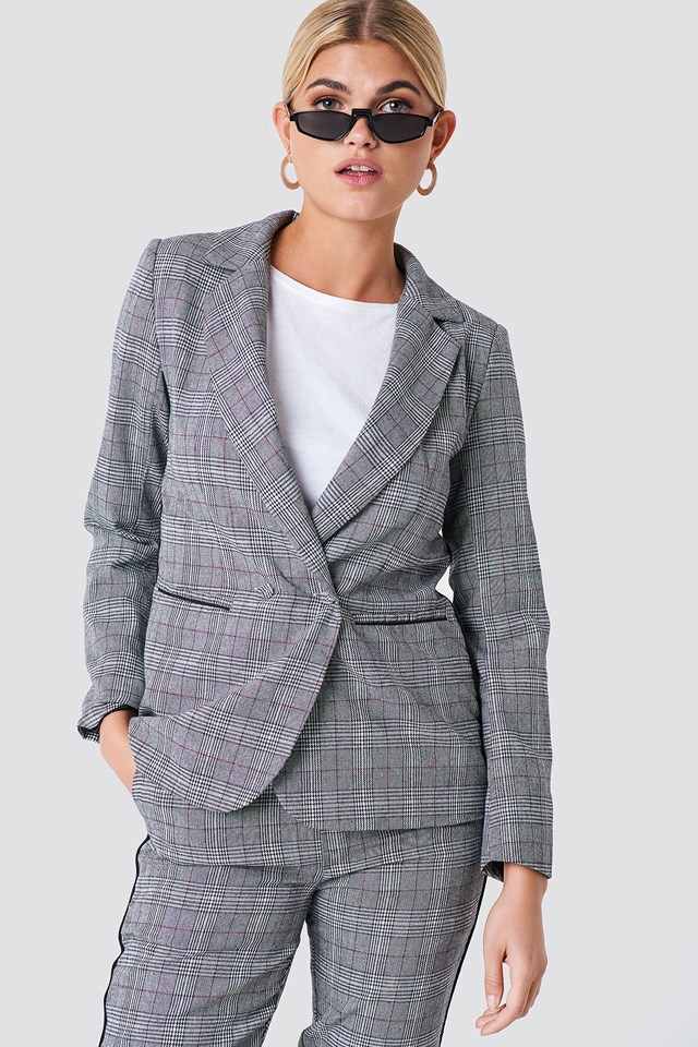 Checked Blazer Grey Comb
