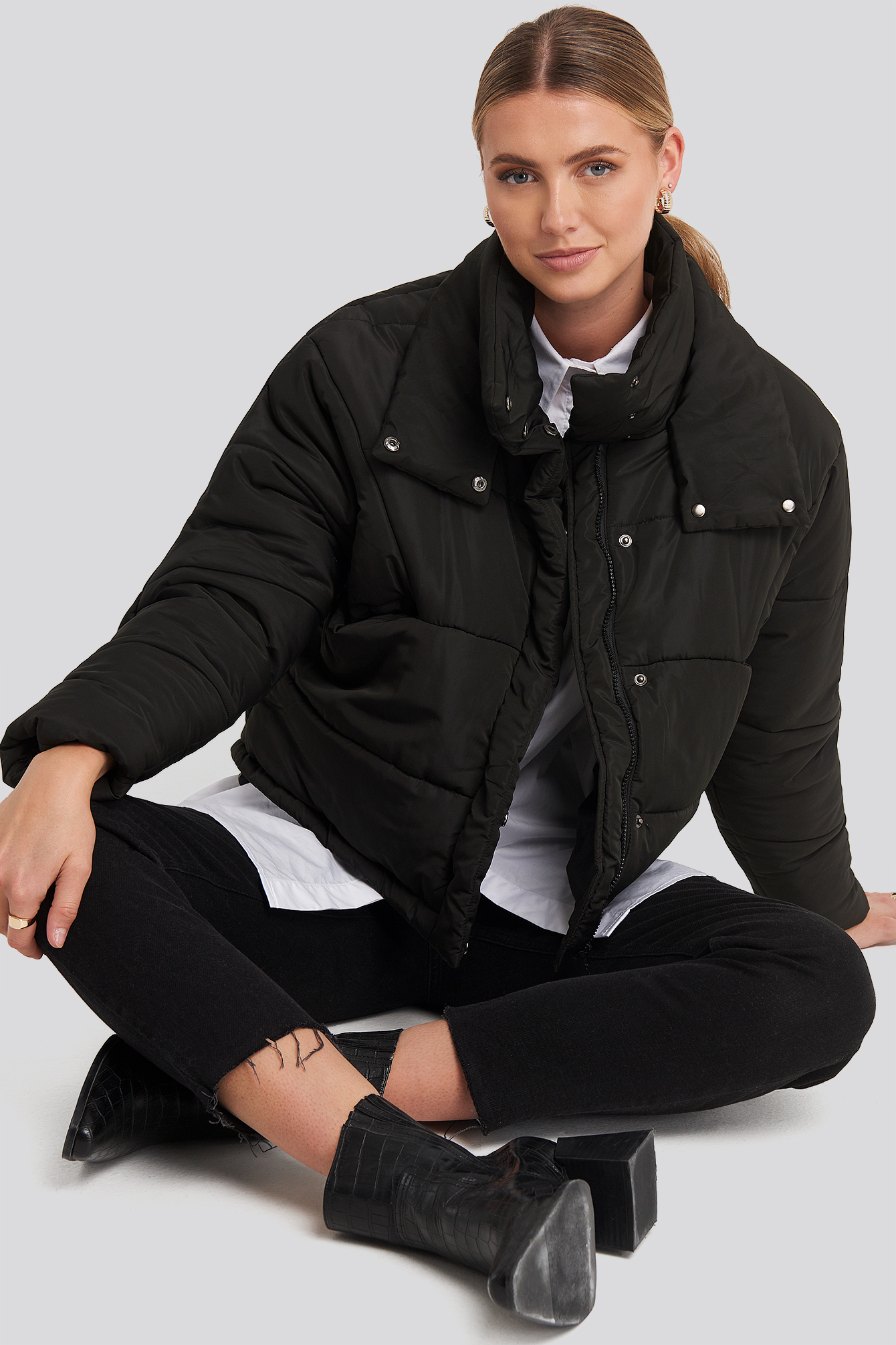 Black Carro Puff Jacket