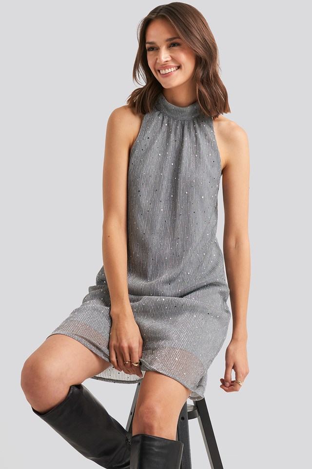 Kary Dress Dark Silver