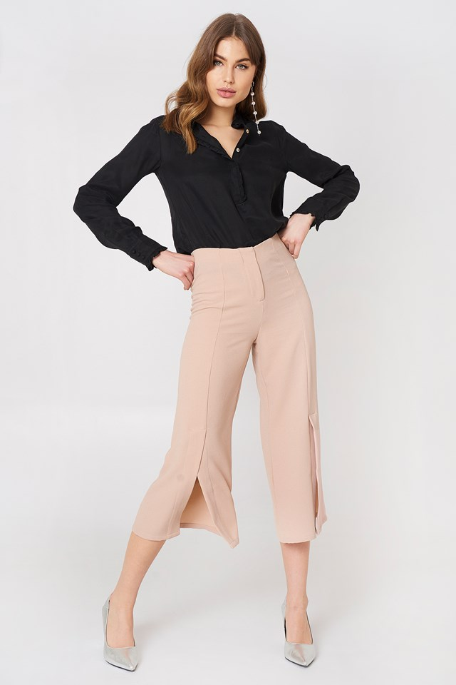 Ofelia Pant With Slit Rut&Circle