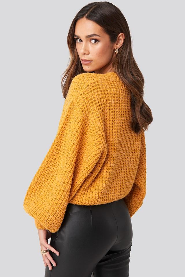Siri Balloon Knit Yellow Saffron