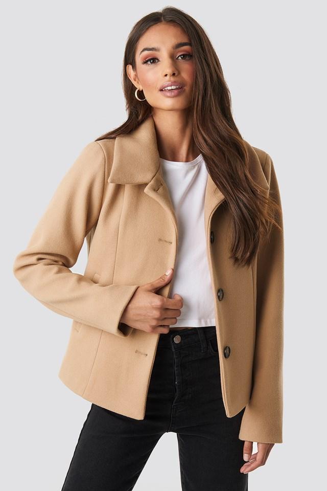 Tuva Short Coat Camel