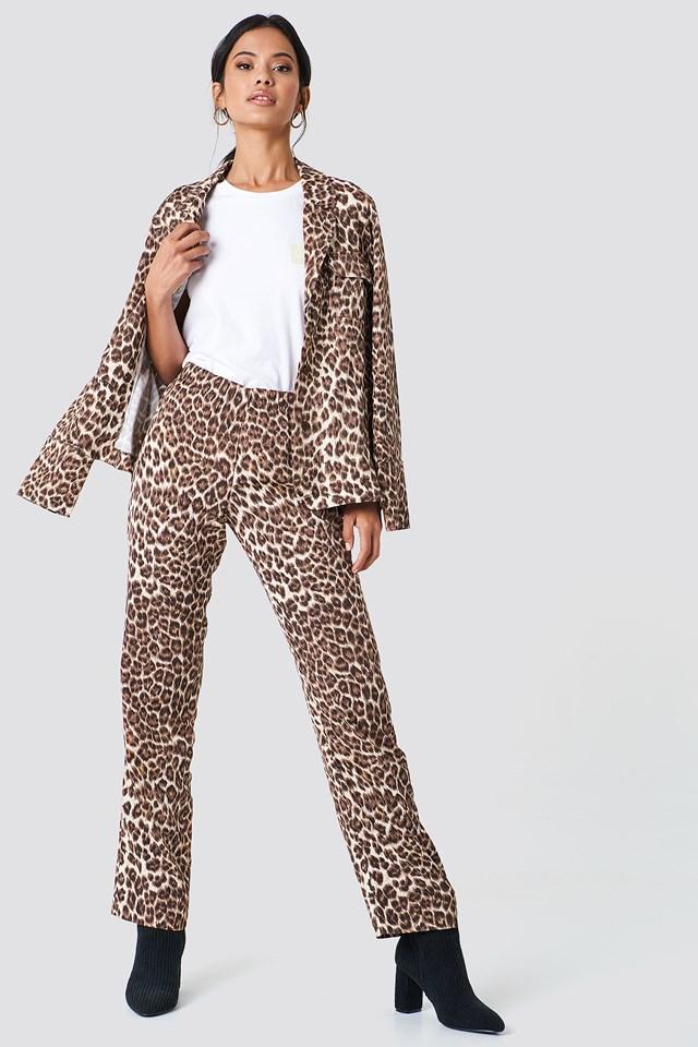 Hoys Straight Pants Aop Leopard