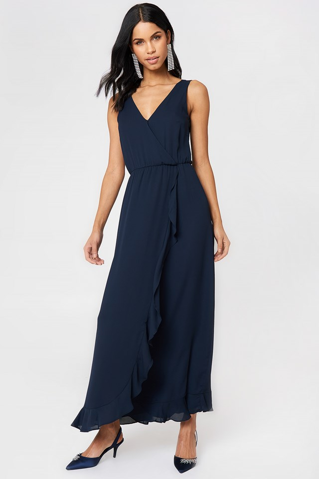 Limon Long Dress Dark Sapphire