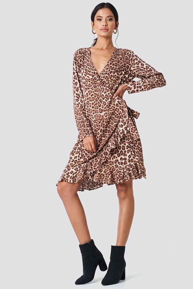 Limon LS Dress Aop Leopard