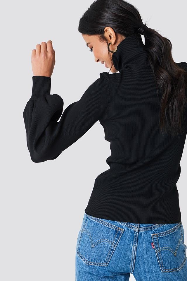 Lua Turtleneck Sweater Black