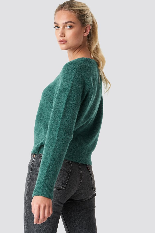 Nor O-N Short Sweater Bayberry Mel