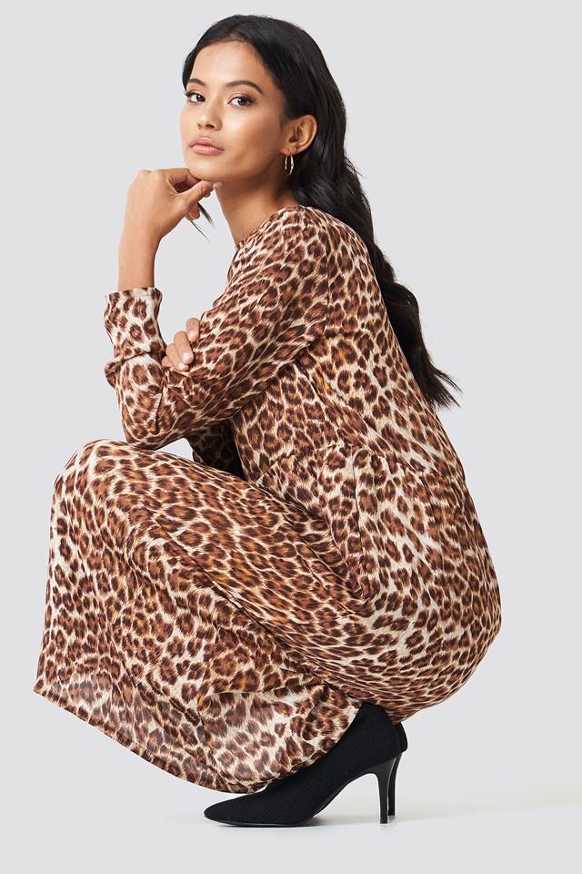 Raven Midi Dress Leopard