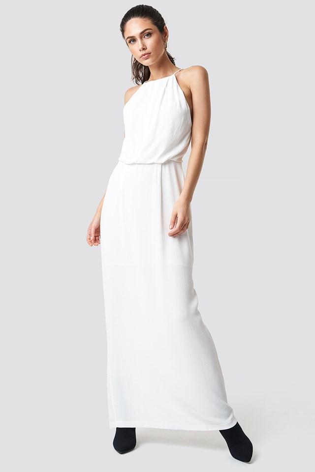 Willow Dress Long Clear Cream
