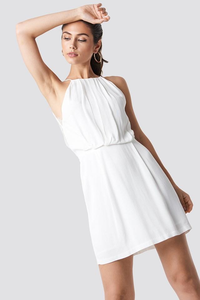 Willow Short Dress Clear Cream