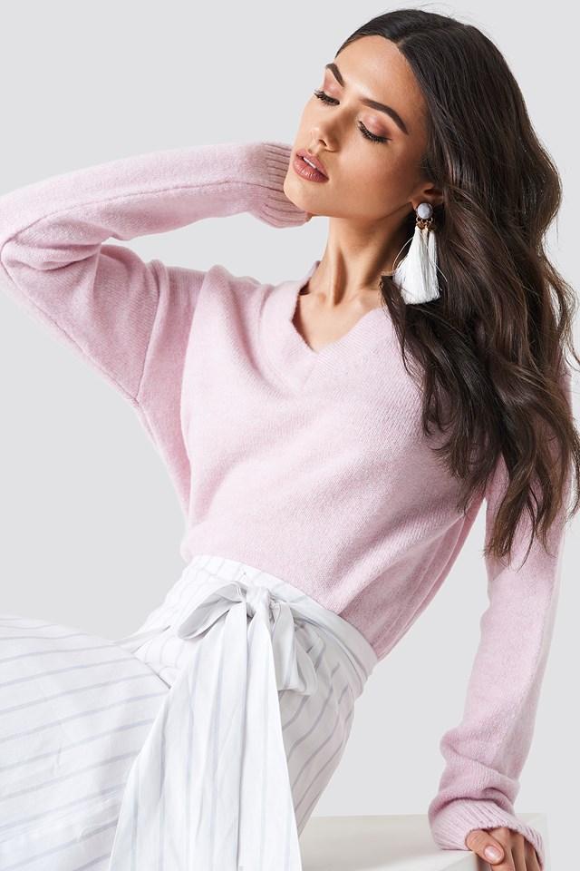 Light Oversized Knit Light Pink