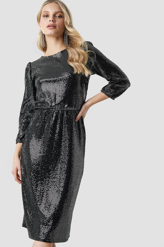 Necca Dress Black/Silver