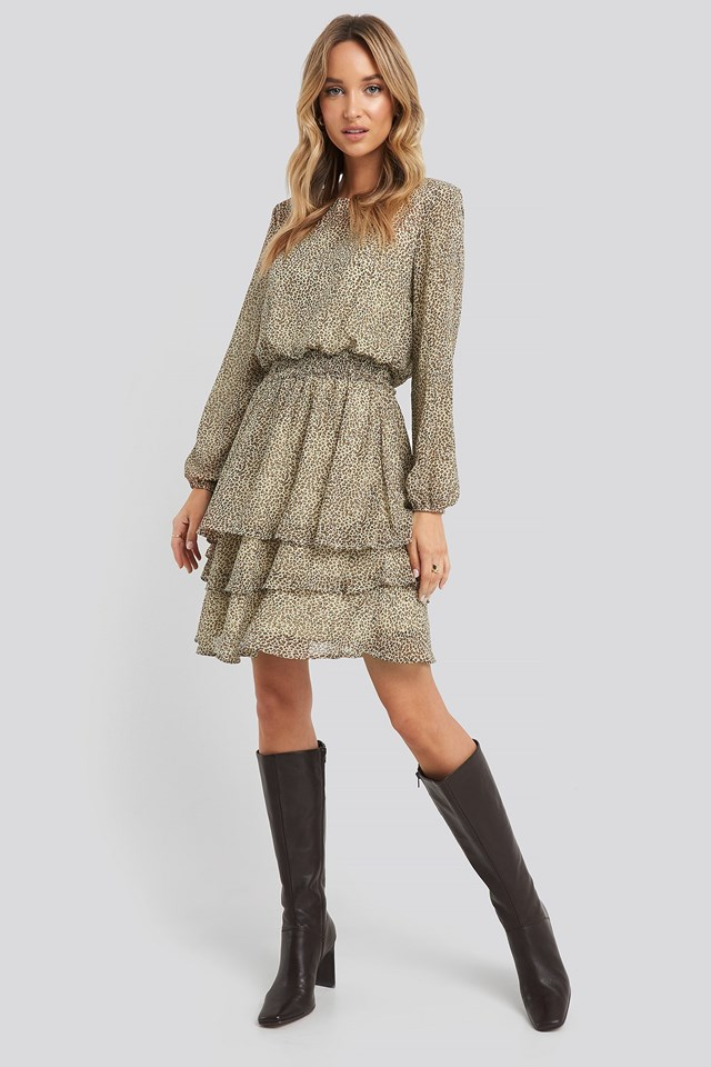 Nicoline-LS4 Dress Brown Outfit