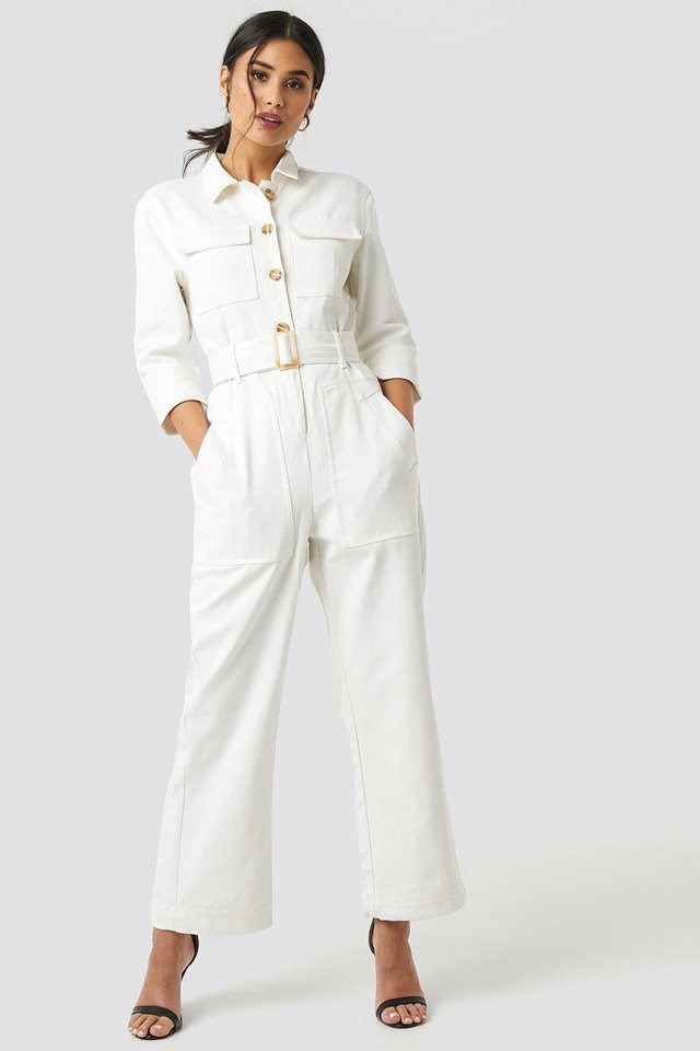 Birkin Jumpsuit White Outfit