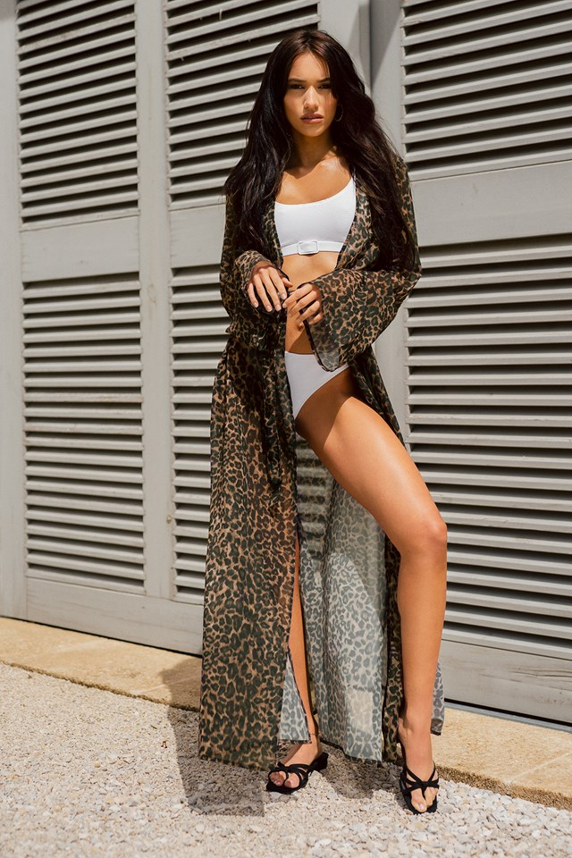 Bikini and Caftan Outfit.