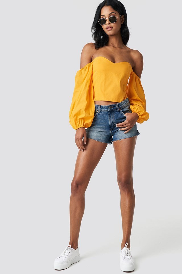 Off Shoulder Top with Shorts