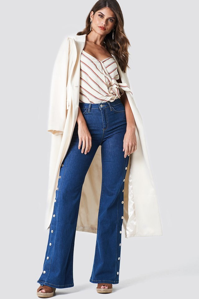 High Flared Jeans Outfit