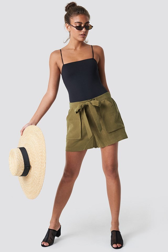 Tie Waist Shorts with Singlet