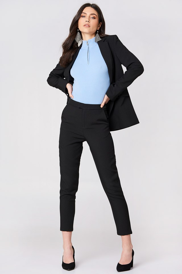 Tailored Black Suit Outfit
