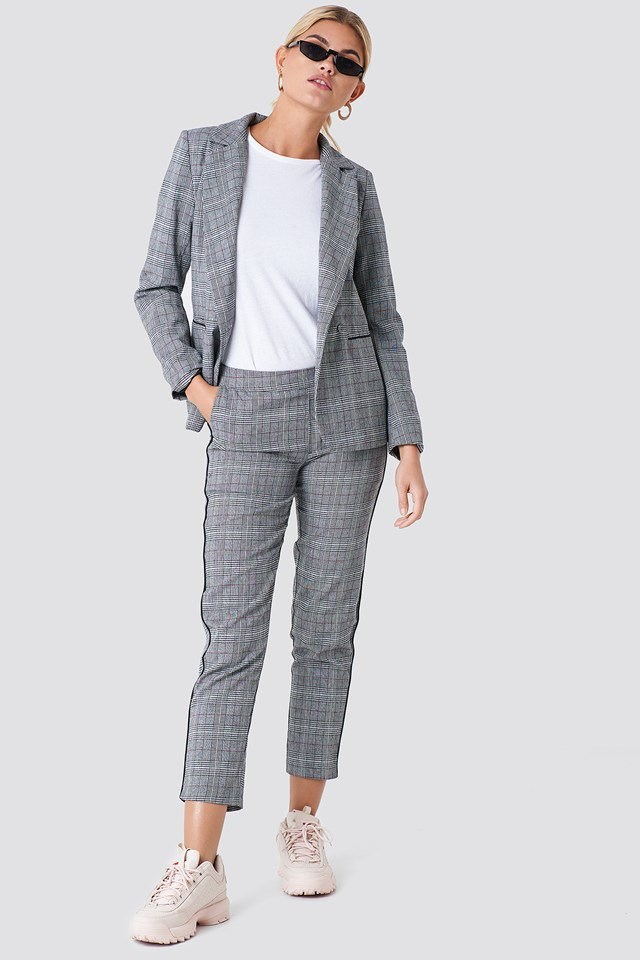 Checked Blazer Outfit