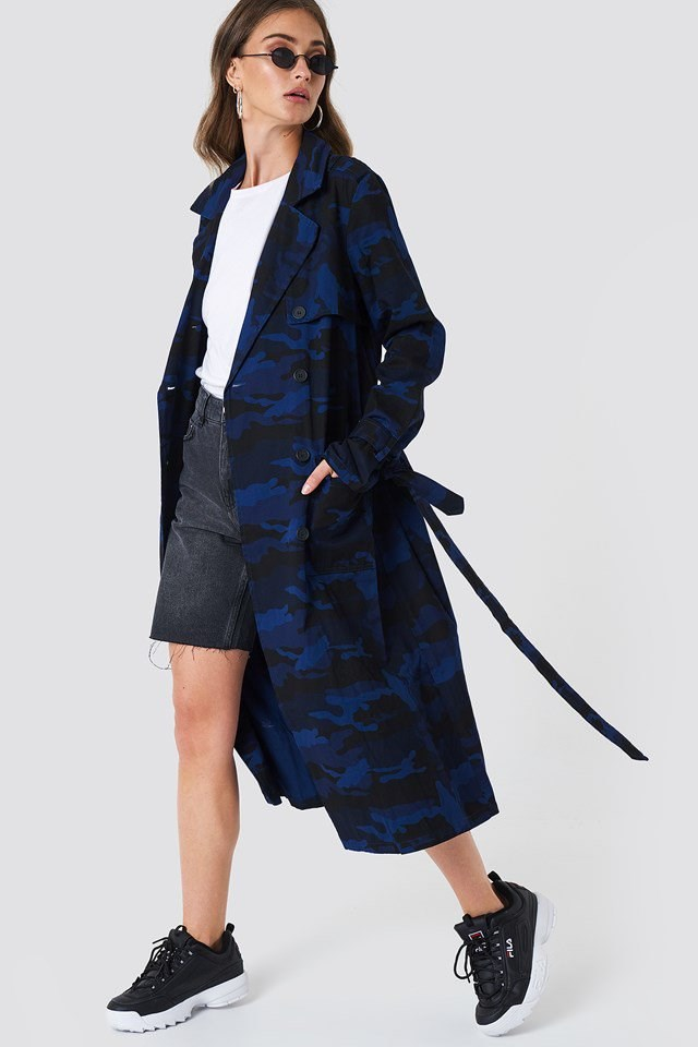 Camo Trench Coat Outfit