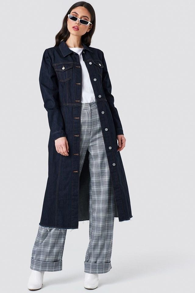 Maxi Denim Coat Outfit